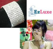 Korean Girls' Generation SNSD Wide Cubic Bracelet tiffany rhinestone elastic