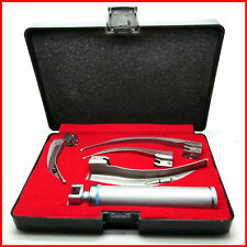 Macintosh Fiber Optic Laryngoscope 4 Blades Set | 1 Handle 4 Blades With Box