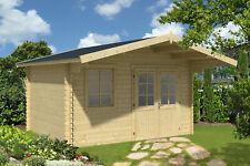 34 mm Gartenhaus mit 130 cm Vordach Gerätehaus Blockhaus Holz NEU