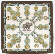 """Authentique foulard Hermès """" Cuivreries """" / Hermès scarf   """" Cuivreries """""""