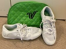 Varsity All For One A41 White Youth Cheerleading Cheer Shoes Size 4 With Case