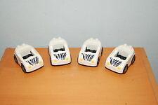 Lot of 4 Lego Duplo Zoo Zebra Cars  White Black