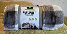Cozy Throw Pet Blanket Sherpa/Flannel 4'x 5'