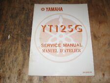 1980 YAMAHA YT 125 G    SERVICE MANUAL ENGLISH/FRENCH  FREESHIP US+CANADA