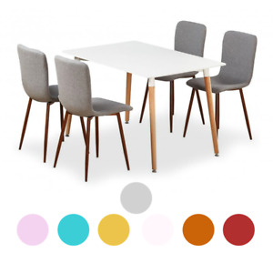 Marco Dining Set | Marco Dining Chairs 4 SET & WHITE Halo Wooden Dining Table