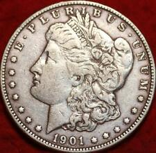 SCARCE  1901-o  MORGAN SILVER DOLLAR COIN, Very Fine New Orleans Mint, NICE COIN