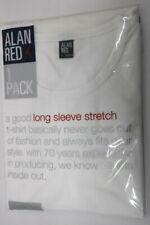 T- Shirt Alan Red Herren Olbia Weiss Stretch Body Fit Long Sleeve Größe XXL