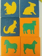 vintage Ideal animal learning shapes, lot of 6 animals