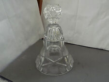 LARGE GLASS BELL WITH FROSTED HEARTS TO BASE  ? FOR A ROYAL WEDDING
