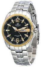 Casio EDIFICE Mens Stainless Steel 100M WR Dress Watch EF-131D-1A9 NEW