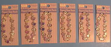 Lot of Round flat glass beads by Sulyn on 6 Cards - Better Photo Inside