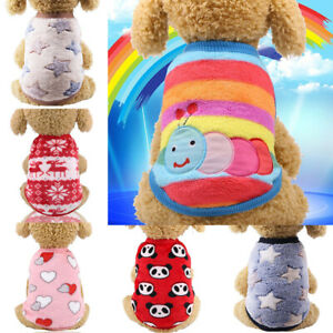 Puppy Sweater Clothes Pet Dog Fleece Jumper Knitwear Coat Chihuahua Fashion