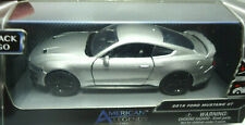 AMERICAN LEGENDS 2018 FORD MUSTANG GT SILVER PREMIUM DIECAST MOTORMAX NEW