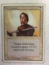 MTG 1x Righteousness Unlimited OLD SCHOOL Commander Magic Gathering Card x1 HP