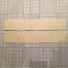 2 BOMAG BW80AD ROLLER COMPACTOR DECALS 2 X 340mm X 50mm  SPARE PARTS  INCVAT