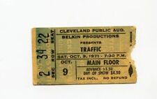 Traffic 1971 Cleveland Ohio Concert Ticket Stub