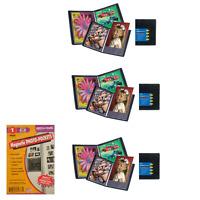 Itoya Art Portfolio Evolution 8.5 x11 Inch Photo Album Book 3 Pack + 4x6 Magnet