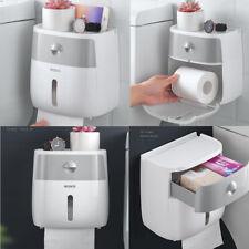 Waterproof Wall Mounted Toilet Roll Holders Towel Bathroom Tissue Paper Box Rack