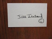 JILL IRELAND(Died-1990)(The Man From UNCLE/Charles Bronson)Signed 3x5 Index Card