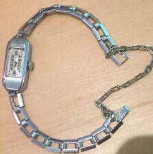 A Lecoultre Blancpain Deco Ladies Wristwatch Aluminum Case 27mm