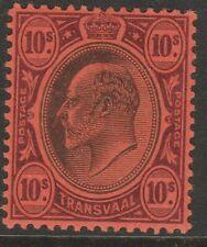 Transvaal MINT EVII 1904-09 10/- black & purple on red sg255