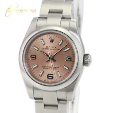 Rolex Oyster Perpetual Ladies Watch Automatic 176200 Pink Dial Silver -Mint