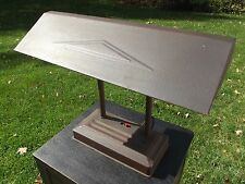 INDUSTRIAL DESK LAMP double goose neck antique art deco VINTAGE OFFICE all metal