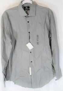 NWT Calvin Klein Men's Slim Fit/Stretch/Wrinkle Resistant Dress Shirt Size M