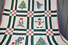 Christmas Hand Stitched Quilt - Xm298
