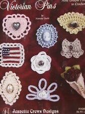 Crochet & Beading Pattern Book VICTORIAN PINS ~ 9 Vintage Designs