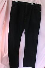 Wrangler Black Denim 38 x 33 Men Jeans Made in the USA