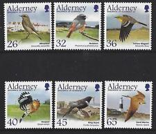 ALDERNEY 2004 MIGRATING BIRDS, PASSERINES MOUNTED MINT.