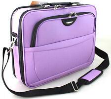 "17.5"" Widescreen Laptop Notebook Carry Bag Case Briefcase Shoulder Bag Purple UK"