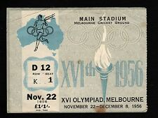 1956 Melbourne Olympic Games, 3 consecutive OPENING CEREMONY tickets. Good cond