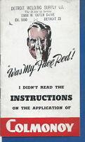 AO-077 - Vintage Colmonoy Welding Tip Leaflet 1940's-50's