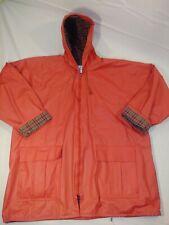 LG Jonathan Logan orange/salmon Poly Vinyl Raincoat Zip Rain Jacket Slicker (25)