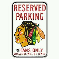 CHICAGO BLACKHAWKS RESERVED PARKING SIGN 11X17 DURABLE POSTER