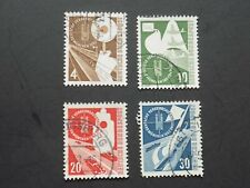 (4) used German stamps off paper-Scott # 698-701