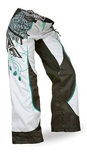 NOS FLY RACING 368-63406 KINETIC BOOT CUT PANTS BLACK TEAL WHITE WOMANS SIZE 5/6