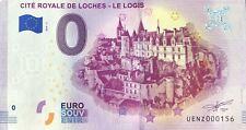 BILLET 0 ZERO EURO  SOUVENIR TOURISTIQUE CITE ROYALE DE LOCHES LE LOGIS 2019-1