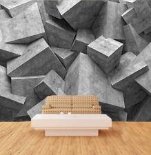 3D Grey Sketch Cube 55 Wall Paper Wall Print Decal Wall Deco Indoor Wall Murals