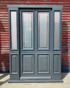 Hardwood Timber Front Entrance Door with sidelights Bespoke Made to measure