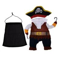 Pet Clothes Cosplay Pirate Dogs Cats Halloween Costume Cool Pets Clothing L&6