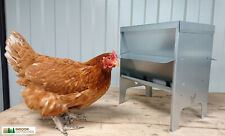 Medium Chicken Poultry Feeder Hopper with Roof Vermin Proof UK Manufactured