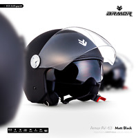 ARMOR AV-63 matt black Jet-Helm Vespa Chopper Roller-Helm Moto XS S M L XL XXL