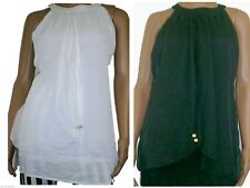 Rayon Patternless Casual Sleeveless Tops & Shirts for Women
