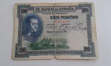 Usado - BILLETE DE 100 PESETAS BANCO DE ESPAÑA - FELIPE II - 1925