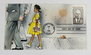 Bevil Hand Painted FDC Black Heritage Dr. Allison Davis Cachet Cover #57/125