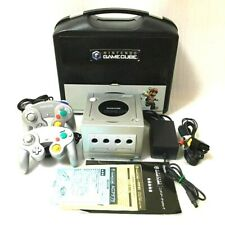 Nintendo Game Cube Console set Silver With 2 controllers, special BOX From Japan