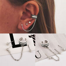4PCS/Set Boho Women Trendy Silver Punk Small Stud Earring Set Charm Hoop Jewelry
